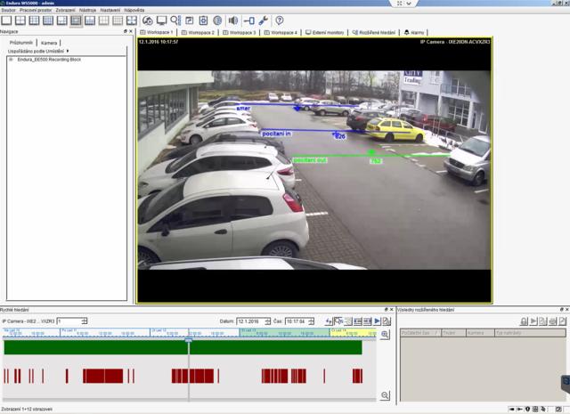 Vybrané analytiky kamer: hlídání směru průchodu a počítání objektů procházejících určitým směrem