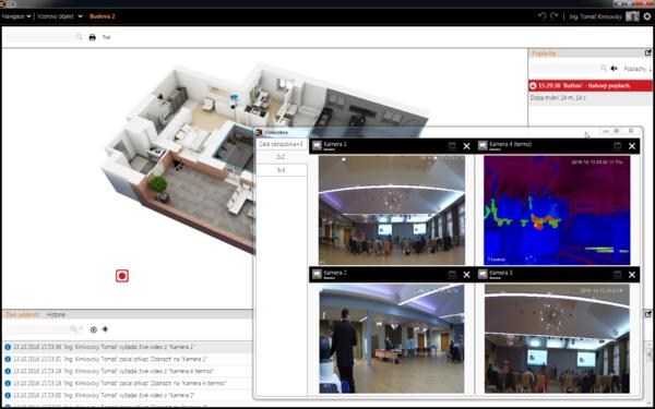 Zobrazení kamer Dahua ve videomatici softwaru C4 (verze 2016)