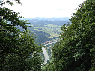 Pohled na Dunajec z polské strany