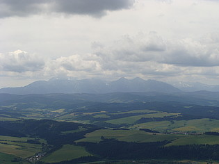Z vrcholu Tří korun byl krásný výhled