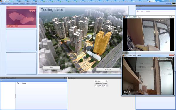 Rozhraní nadstavby C4 (verze 2015) ve spojení s kamerovým systémem Dahua