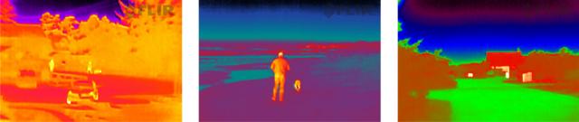 Snímky pořízené termokamerou FLIR Scout TK
