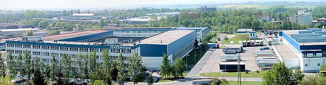 Jeden z výrobních závodů FOXCONN v České republice - pobočka Pardubice