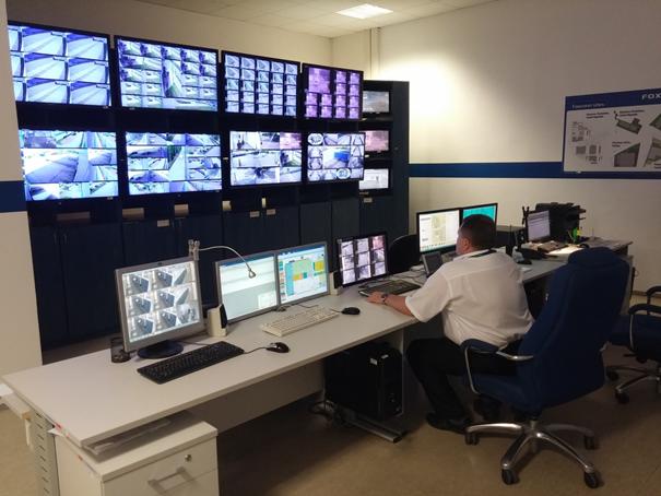 Operační středisko ve společnosti FOXCONN využívá systém Digifort