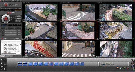 Všechny kamery Digifort jsou připojeny do samostatné datové sítě