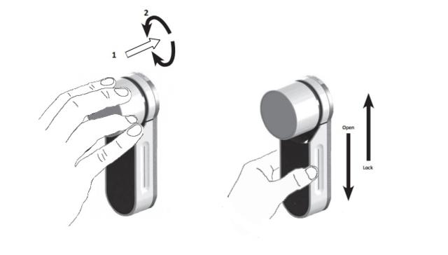 FAB ENTR můžete ovládat pomocí otočného knoflíku nebo pohybem nahoru / dolů