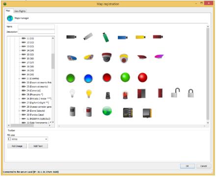 Použitelné ikony v softwaru Digifort 7.1