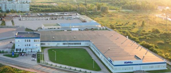 Pohled na továrnu PERCo ve městě Pskov
