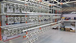 Jedna z etap výroby turniketů v továrně PERCo