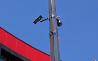 Instalace barevných kamer Pelco, MKDS Hradec Králové, U Koruny (detail)