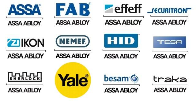 Společnost ASSA ABLOY sdružuje celou řadu značek