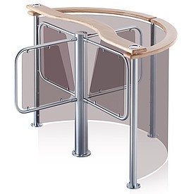 Rotační turniket - vyžaduje větší prostor pro instalaci