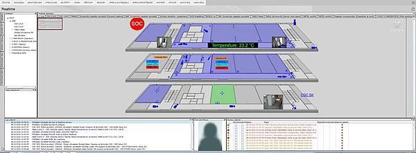 Monitorování stavu technologií v budově
