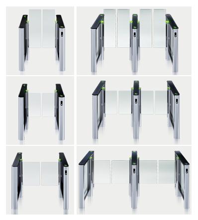 ST-01 s různými velikostmi dodávaných skel