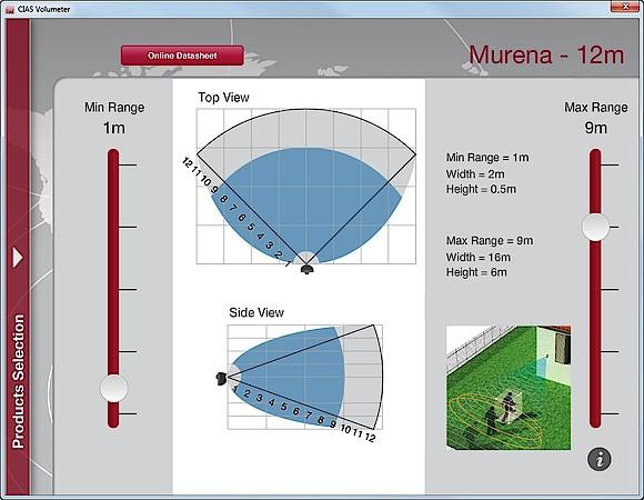 Software Volumeter pro detektor Murena