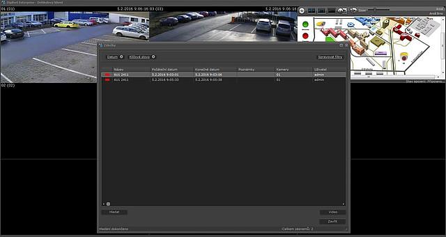 Ukázka vyhledání SPZ v softwaru Digifort