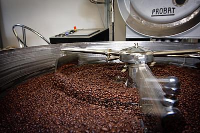 Stroj na pražení kávy Probat UG22 z roku 1958