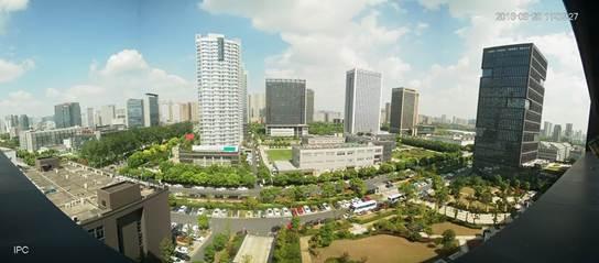Ukázka záznamu pořízeného panoramatickou kamerou Dahua