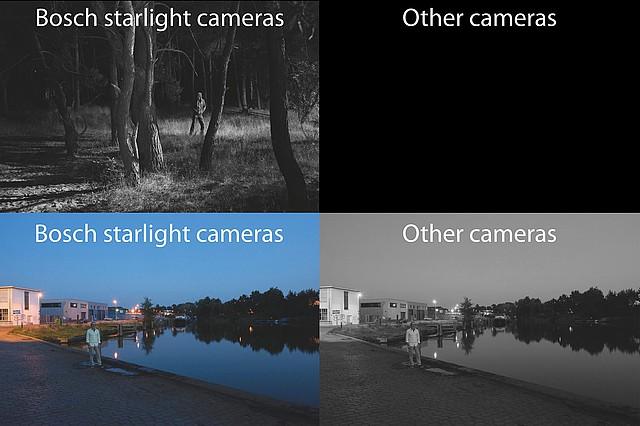 Porovnání kamer Starlight a kamer jiných výrobců