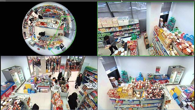 Ukázka využití kamer Dahua fishey v obchodě