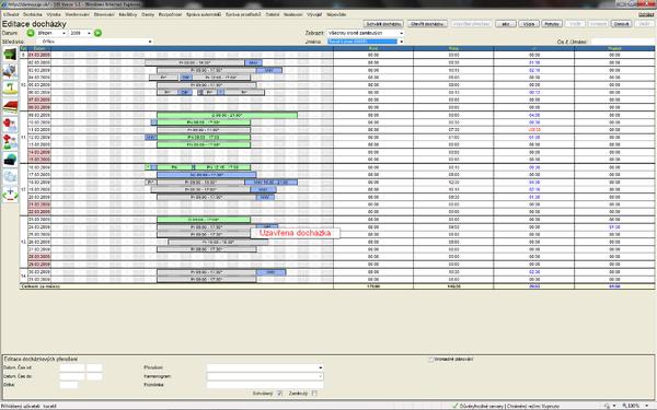 Ukázka práce s modulem Docházka SBI