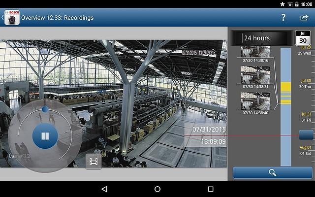 Rozhraní programu Video Security Client od společnosti BOSCH